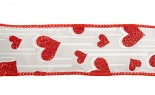 #9 Falling Hearts White Red Glit