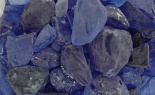 1lb Bag Beach Sea Glass Cobalt
