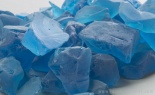 1lb Bag Beach Sea Glass Ice Blue