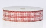 #9 Frosted Plaid 20yd Red White