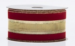 #40 Velvet Edge Gold Firefly Center 20yd Red