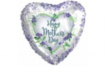 Foil Mother's Day Violets And Greens Pk/5