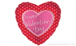 Happy Valentine's Day Pink Polka Dots Pk/5