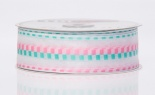 #9 Sheer Cheer Pink Teal 50yds