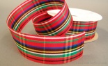 #9 Metallic Plaid Christmas Red 25 Yd