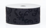 #40 We Faux Leather W/flocked Leaf 20 Yd