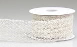 #40 Wired Open Weave Swirls Ivory 10 Yd