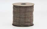 #100 We Glen W/grey Plaid Back Brown Burgundy 5yd