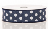 #9 We Dark Jean Canvas W/ White Dots