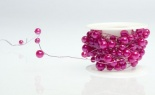 26.25' Beaded Wire Strong Pink
