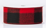 #40 Mammoth Buffalo Plaid Red Black 20 Yd