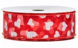 #9 We Hearts Hearts Hearts Red White 20 Yd