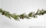 6' Incense Cedar Mx Greens Garland W/cones