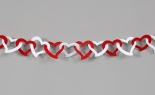 6'l Felt Open Heart Chain Garland Red White