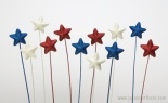 50mm Glit Star Red White Blue