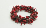 (sn) 9'l Holly Berry Pip Garland Red
