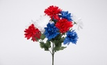 Mum Bush X12 Red White Blue