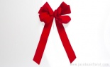 10 Loop #40 Deluxe Premade Bow Velvet Red