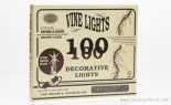 100PC 24' VINE LIGHT SET BROWN CORD