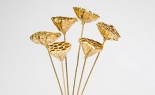 Lotus Stem Leaf Gold